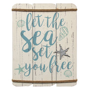 """Let The Sea Set You Free"" Wall Decor"