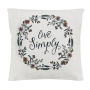 """Live Simply"" Pillow"