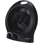 Portable Electric Space Heater & Fan (Black)