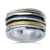 Sterling Silver & 12/20 Gold-Filled Six-Ring Spinner Bands