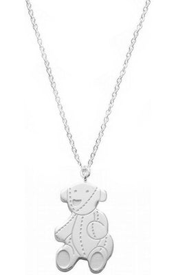 GUCCI JEWELS Mod. BABY TEDDY  Collana/Necklace ARGENTO/SILVER L.40 cm