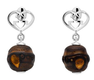 GUCCI JEWELS Mod. BOULES BAMBOO Orecchini/Earrings ARGENTO/SILVER