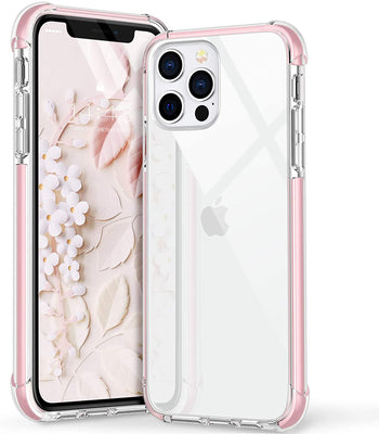 iPhone 12 Pro Max Clear Back Cover Shockproof Bumper Case, 5 Colors