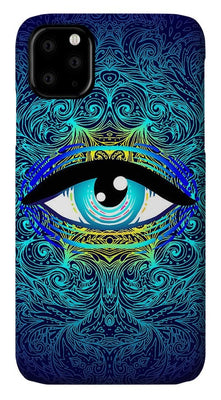 All Seeing Eye Teal Slim Case with Lanyard