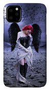 Black Winged Angel and Ravens Slim Case with Lanyard
