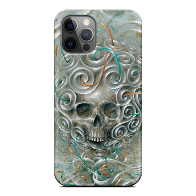 Skull in Vague Abstract iPhone Silicone Case