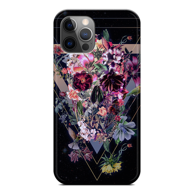 Skull in Bloom iPhone Silicone Case