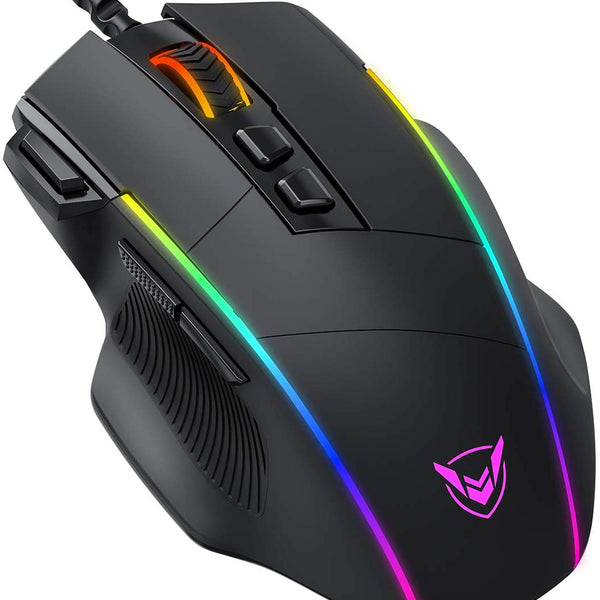 PICTEK Mouse Gaming, Mouse RGB 8 Pulsanti Proggrammabili