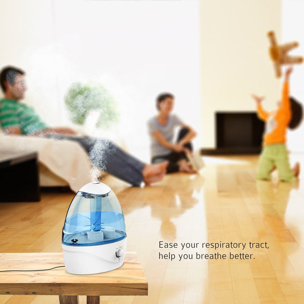 Pictek Ultrasonic Cool Mist Humidifier, 2.5L [Auto-off] [Less than 31db] Air Purifier Humidifiers with Night Light for Baby, Bedroom & Living Room