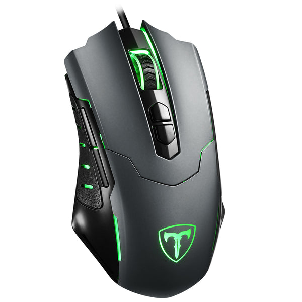 PICTEK Gaming Mouse Wired,7200 DPI, Breathing Light