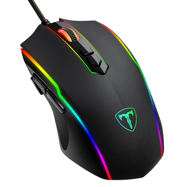 PICTEK Gaming Mouse Wired,Programmable,RGB Backlit