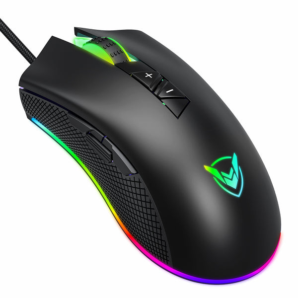 PICTEK Gaming Mouse Wired,Chroma RGB Lighting,Programmable