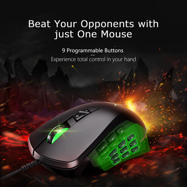 PICTEK Gaming Mouse Wired, 24, 000 DPI Optical ,Ergonomic