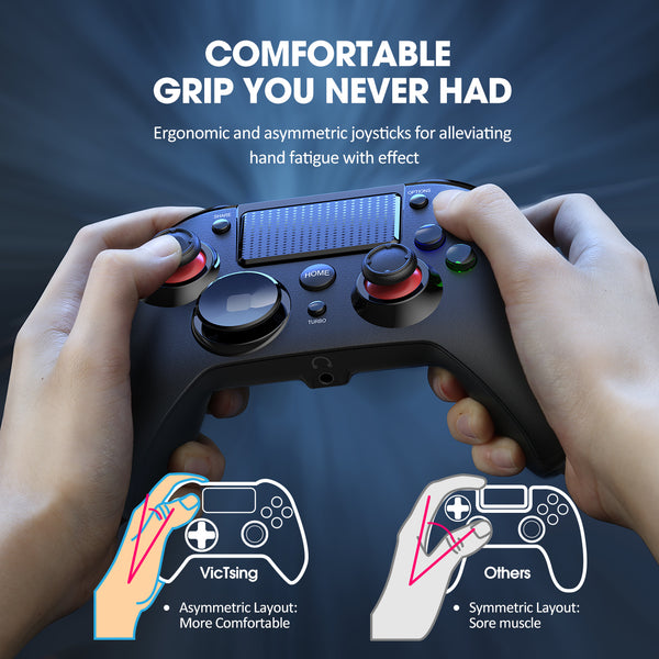 PICTEK PS4 Controller, 3-in-1 Wireless Gaming Controller