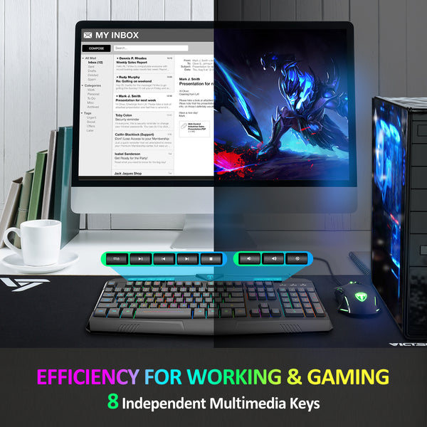 Pictek Gaming Keyboard and Mouse Combo
