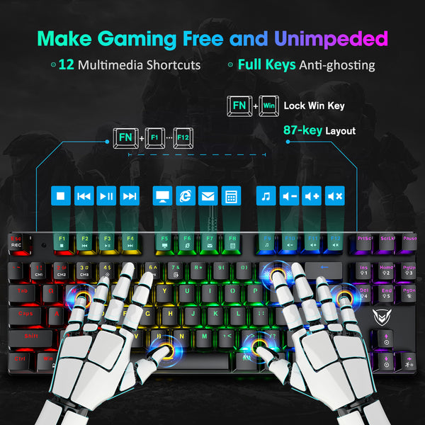 PICTEK TKL Mechanical Gaming Keyboard - 87 Key
