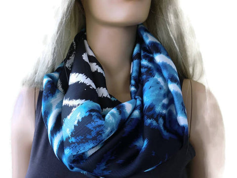 Ocean colors satin infinity scarf