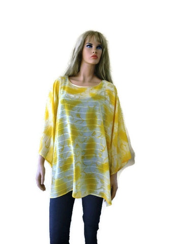 sunshine yellow oversize tunic