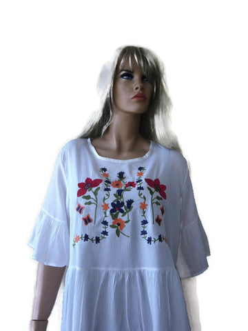 white peasant blouse with embroidery