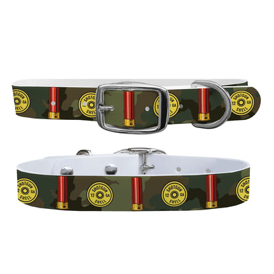 """12 Gauge Camo"" Dog Collar - Covey and Paddle"