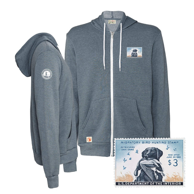 1959-1960 Federal Duck Stamp Full Zip Hoody - Covey and Paddle