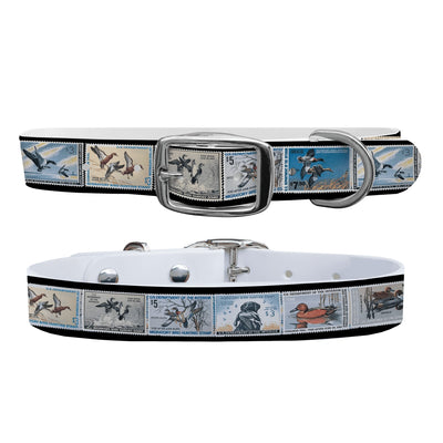 """1960 Federal Duck Stamp Collection"" Dog Collar - Covey and Paddle"