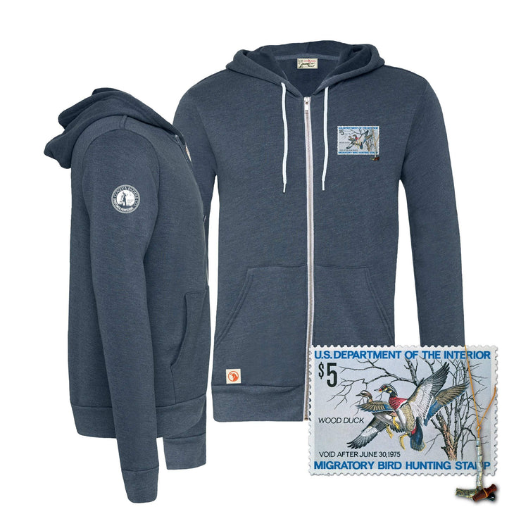 1974-1975 Federal Duck Stamp Full Zip Hoody - Covey and Paddle