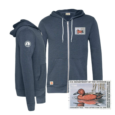 1985-1986 Federal Duck Stamp Full Zip Hoody - Covey and Paddle