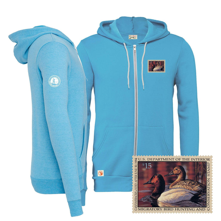 1993-1994 Federal Duck Stamp Full Zip Hoody - Covey and Paddle
