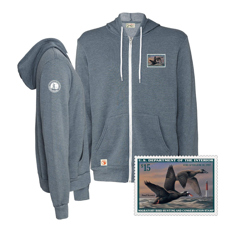 1996-1997 Federal Duck Stamp Full Zip Hoody - Covey and Paddle