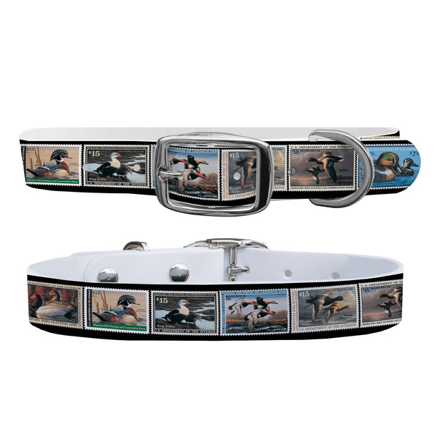 """2013 Federal Duck Stamp Collection"" Dog Collar - Covey and Paddle"