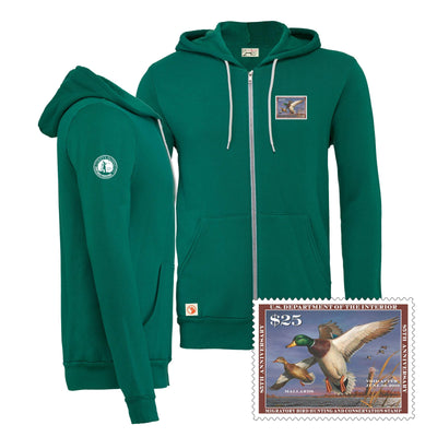 2018-2019 Federal Duck Stamp Full Zip Hoody - Covey and Paddle