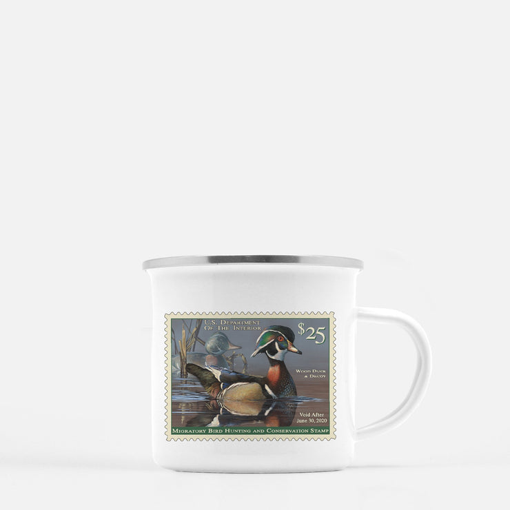 2019-2020 Federal Duck Stamp Camp Mug - Covey and Paddle