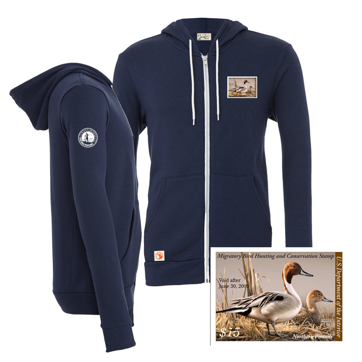 2008-2009 Federal Duck Stamp Full Zip Hoody - Covey and Paddle