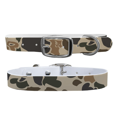 """Brigadier Camo"" Dog Collar - Covey and Paddle"