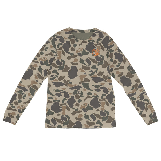 """Brigadier Camo"" Field & Water Sun Shirt - Covey and Paddle"