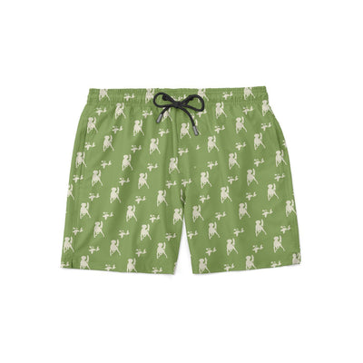 Samson Green Swim Shorts - Covey and Paddle