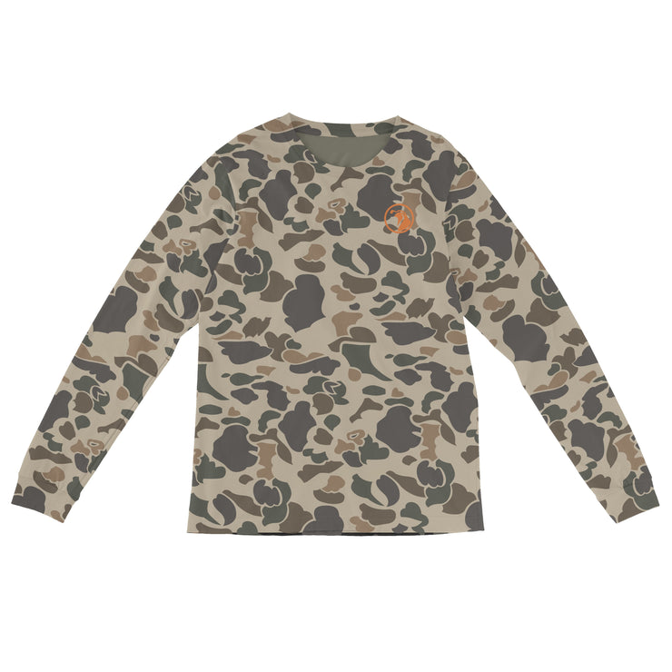 "Sports Cut - ""Brigadier Camo"" Field & Water Sun Shirt - Covey and Paddle"