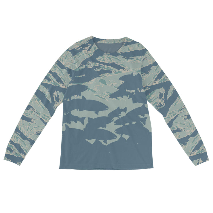 """Tiger Trout"" Field & Water Sun Shirt - Covey and Paddle"