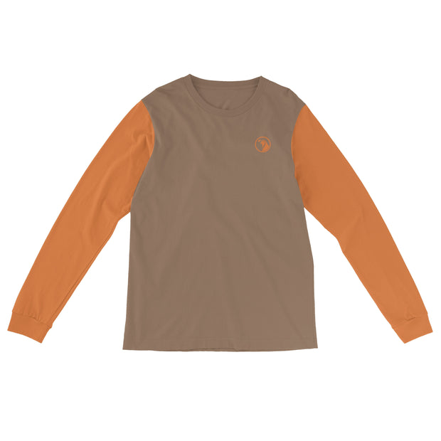 """Tobacco Orange"" Field & Water Sun Shirt - Covey and Paddle"