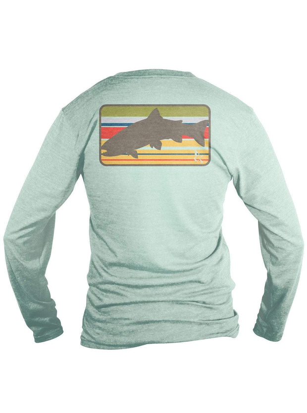 """Trout Flag"" Field & Water Sun Shirt - Covey and Paddle"
