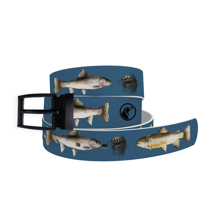 Trout & Fly Belt - Blue - Covey and Paddle