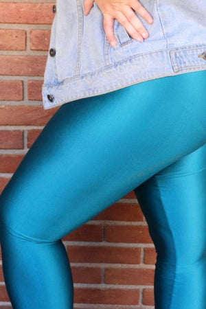 teal legging - with waistband