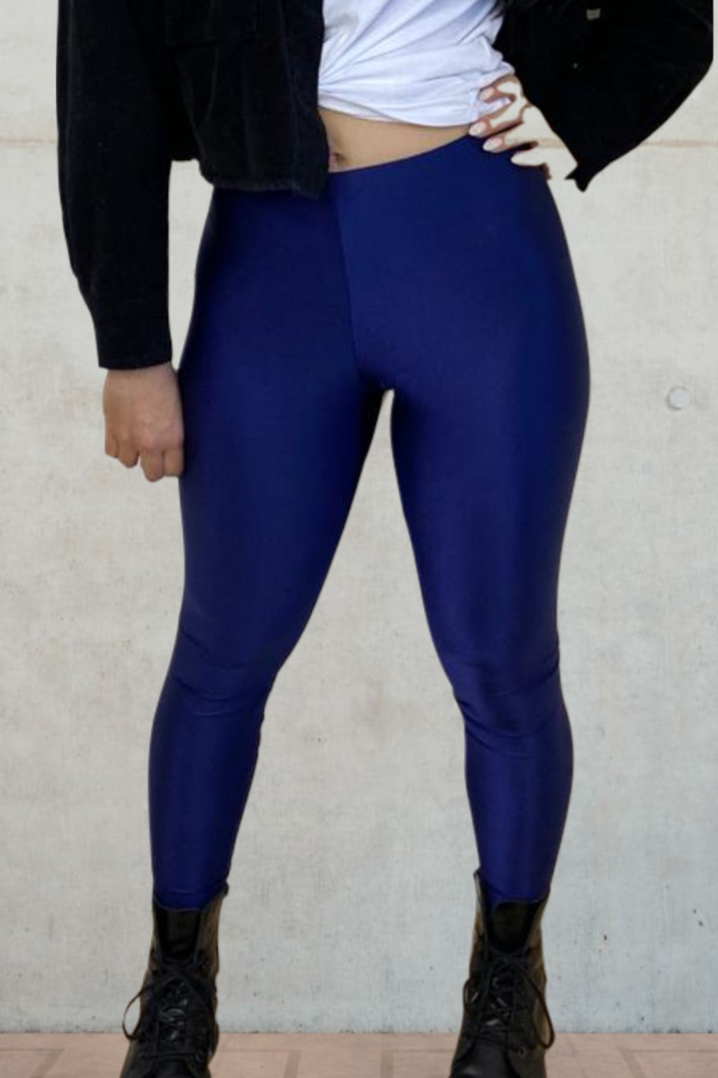 dark blue legging - high waisted