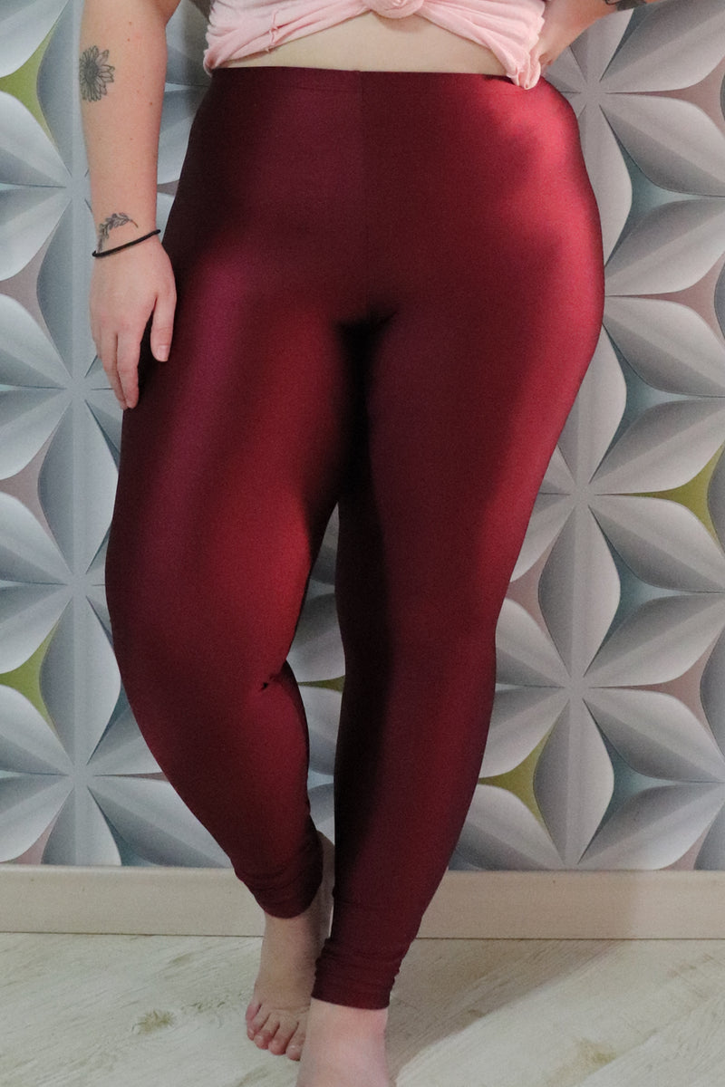 red wine legging - high waisted
