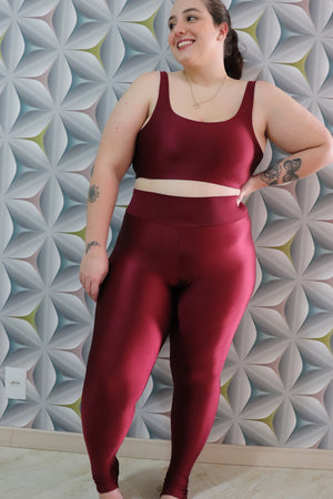 red wine legging - with waistband