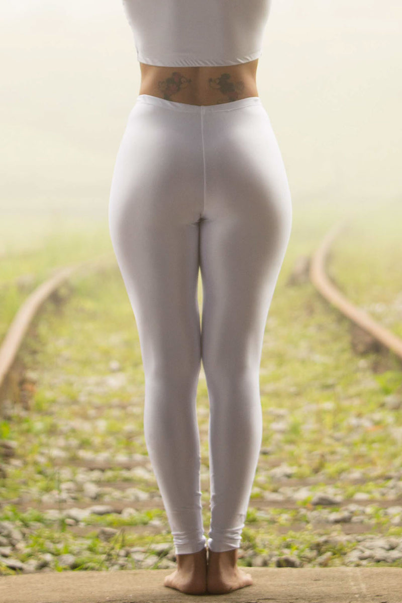 white legging - high waisted
