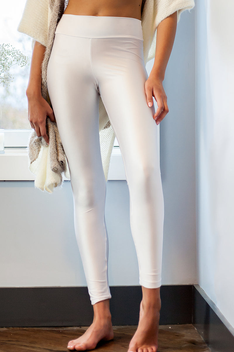 white legging - waistband