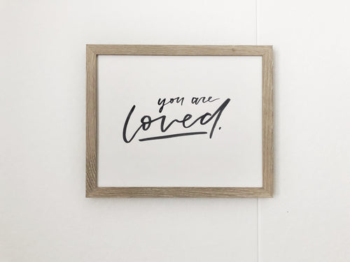 YOU ARE LOVED - hand painted.
