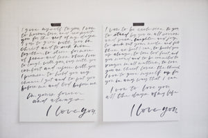 CUSTOM VOWS - set of two